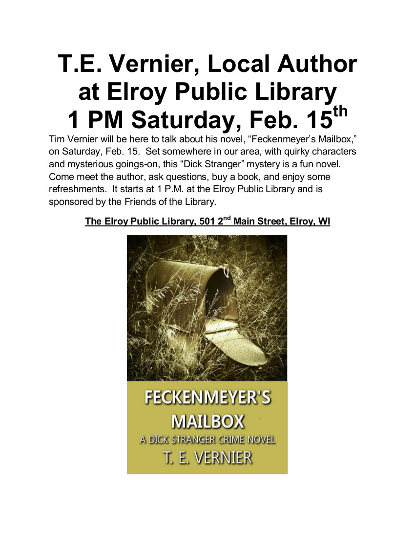Feckenmeyer's Mailbox -- Elroy Public Library Poster gimp
